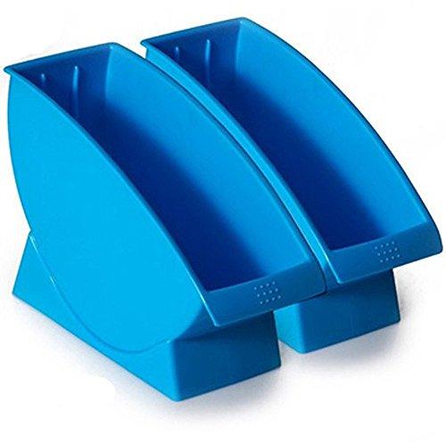 Dealglad® Nueva 2pcs plástico Cocina Vajilla Plato Plato Escurridor secado estante de almacenamiento Organizador Estante Soporte 27.8 * 9.5 * 17.5CM azul