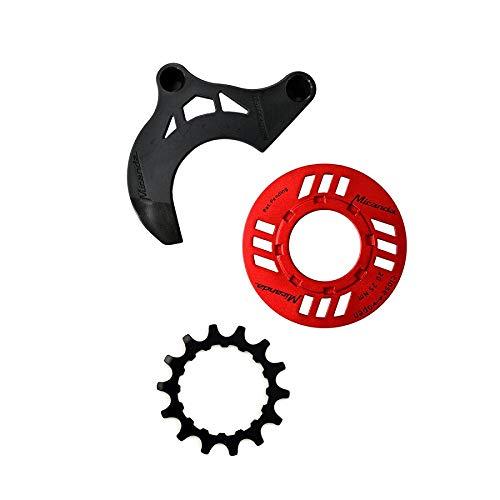 Miranda Kettenschutz-Set für E-Bike 14 Zähne Kettenführung für GEN 2 rot