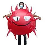 mayDONG Traje Inflable del Virus De La Epidemia De La Novedad para Adultos, Mono Divertido De Halloween para Disfraces Disfraces Cosplay Accesorios para Disfraces