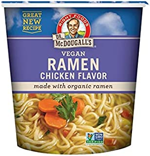 Dr. McDougall's Right Foods Ramen Chicken Soup with Noodles, 1.8 Ounce Cups (Pack of 6) Non-GMO, No Added Oil, Made w/ Org...