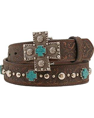 Ariat Accessories Women's Braided Buckle Belt M, Brown