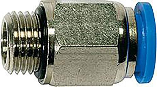 Raccord droit « Blue Serie » - G 1/4 a - Pour tuyau extérieur Ø 12 mm - Pression de travail max. 15 bars, plastique/laiton.