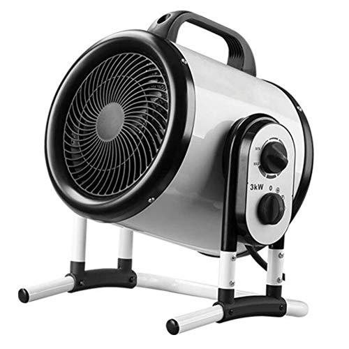 YCSD 3KW Industrial Calentador Eléctrico,para Taller,Invernadero, Garaje U Oficina,2 Configuraciones De Calor Y Ajuste del Ventilador De Refrigeración,con Termostato Automático