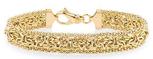 MiaBella 18K Gold Over Sterling Silver Italian Byzantine...