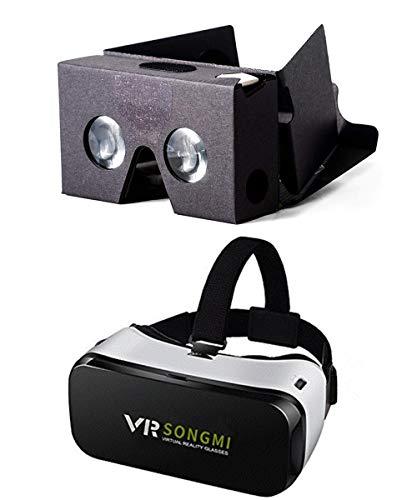 AOOK SONGMI Series 3D VR auriculares de realidad virtual, gafas VR para vídeos inmersivos de 360 grados, películas y juegos en iPhone 5 6s Plus Samsung S6 Edge Note 5 LG G3 G4 Nexus 5 6P