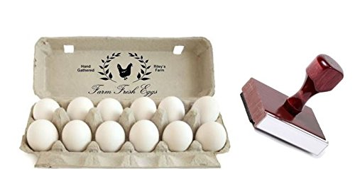 "Traditional Custom Rubber Egg Box Stamp - 5"" x 2 7/8"""