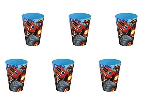 ALMACENESADAN Blaze, 0351, Pack 6 Vasos de plástico Reutilizables para Fiestas y cumpleaños (Blaze v)