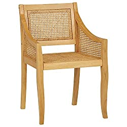 Amazon Stone & Beam Rustic wood rattan cane dining chair