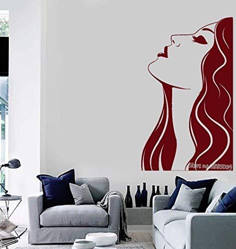 Muurstickers muurschilderingen Decals Aankomst Vrouw Schoonheid Salon Haar Stylist Art Meisje Rooom Mode Bank Achtergrond L 42X70cm
