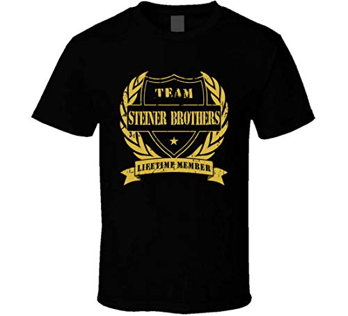 Steiner Brothers Team Lifetime Member Wrestling T-Shirt Gr. XL, Schwarz
