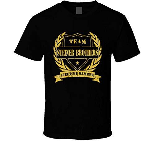 Steiner Brothers Team Lifetime Member Wrestling T-Shirt Gr. 56, Schwarz