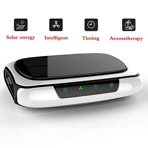 GT-LYD luchtreiniger voor in de auto, met HEPA-filter, smart switch solar-oplader, olie, aromatherapie, zeer lage geluidsontwikkeling, bestand tegen hoge en lage temperaturen