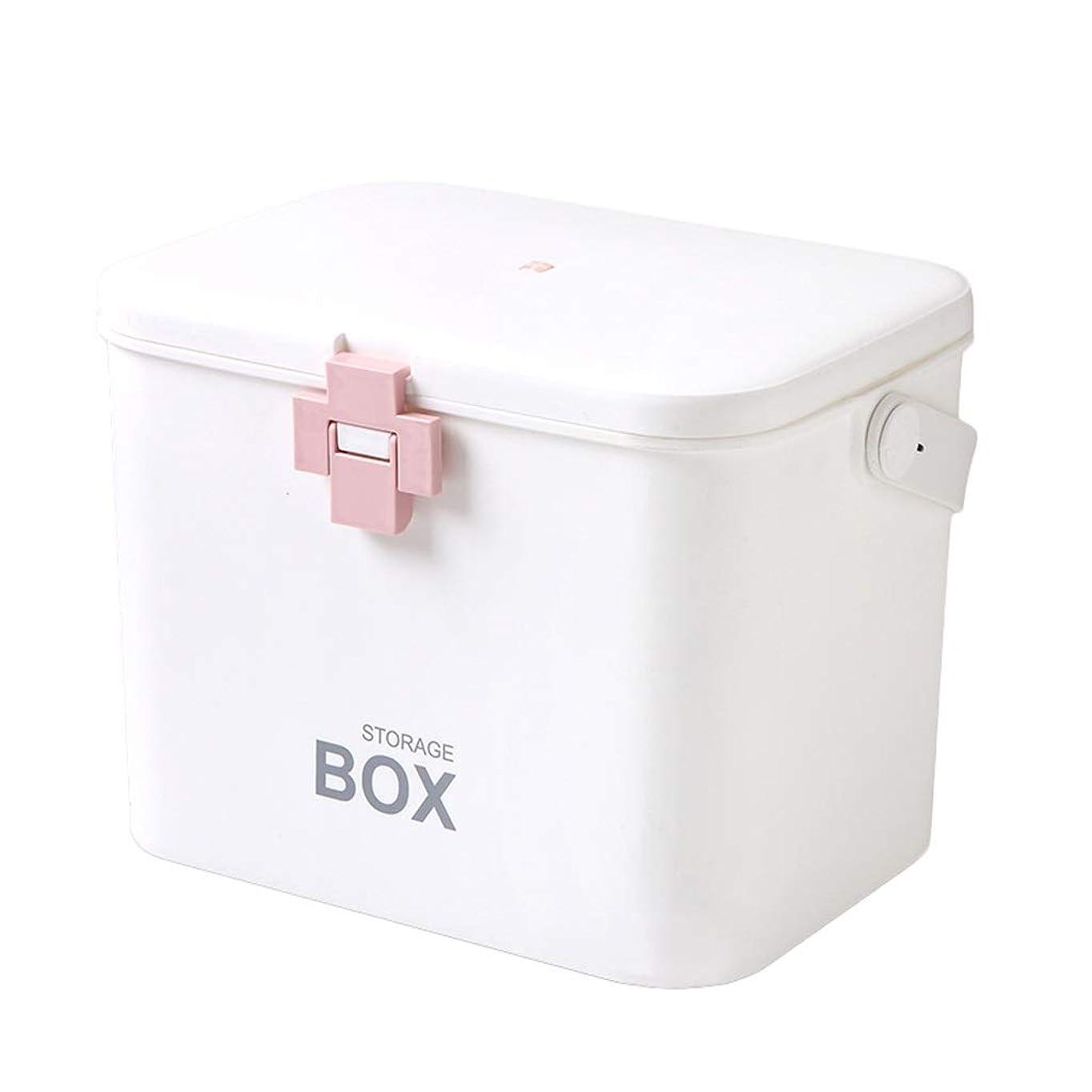 重要な犯す同じ応急処置薬箱家庭用薬品収納ボックス子供大型ポータブル医療緊急医療キット31 * 20 * 22 cm ZHAOSHUNLI (Color : Pink)