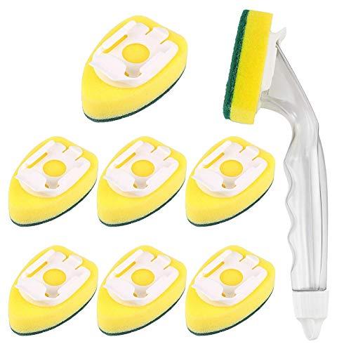 Pineapplen Heavy-Duty Dish-Washing Stick Sponge, Dish-Washing Sponge with Handle, Non-Scratching and Reusable Dish Sink…