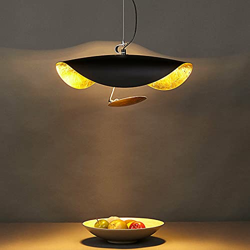 Lámpara de techo vintage industrial de 60 W, lámpara de techo antigua, lámpara LED de mesa de comedor, para cafetería, restaurante, bar, oficina, salón, dormitorio, cocina