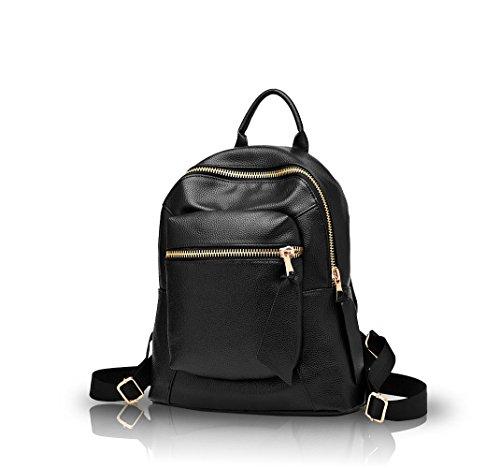 Nicole&Doris 2016 nuova ondata di donne estate donne studenti zaino di modo borsa a tracolla(Black)
