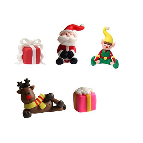 NUOBESTY Decorazioni per Torte Natalizie Decorazioni per Torte Cupcake Decorazioni per Dolci Decorazioni per Feste di Natale 5 Pezzi