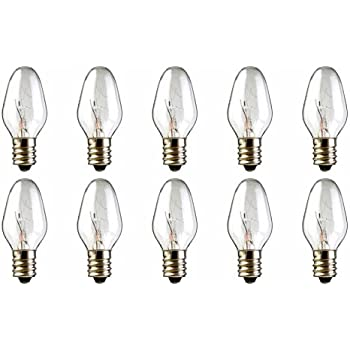 15W 130 Volt Long Lasting 10-Pack 15 Watts Replacement Bulbs for Scentsy Plug-In  Warmer Wax Diffuser