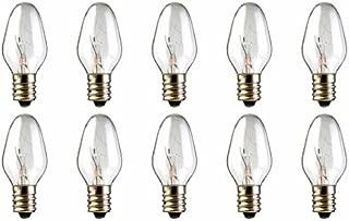 10-Pack 15 Watt Bulbs for Scentsy Plug-in Nightlight Warmer Wax Diffuser, 15W 120 Volt