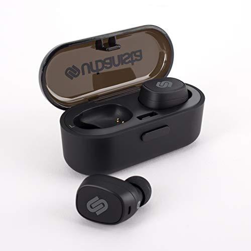 Urbanista Tokyo Plus True Wireless In Ear Kopfhörer Kabellos 16 Std Wiedergabezeit Bluetooth 5.0 mit Ladebox, Multifunktionstaste Ohrhörer Earbuds Headset Kompatibel mit Android und iOS – Schwarz