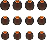 Ear Tips Replacement for Live 200BT Tune 110 BT Tune 120TWS Headphone, S M L Size Soft Silicon Ear Tips Earbud Covers for Live 200BT Tune 110 BT Tune 120TWS, 6 Pairs, Black/Orange