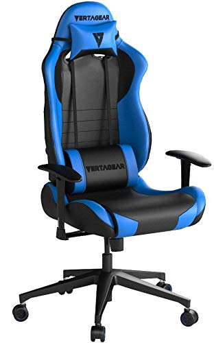VERTAGEAR Chaise de Gaming VG-SL2000_PK - Medium, Noir/Bleu, Taille M