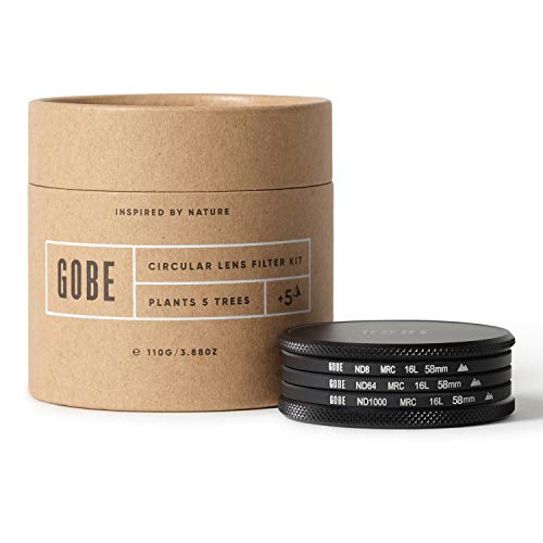 Gobe 58 mm Graufilter ND8, ND64, ND1000 - ND Filter Kit(2Peak)