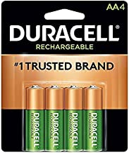 Duracell NLAA4BCD Rechargeable NiMH Batteries with Duralock Power Preserve Technology, AA, 4/Pack