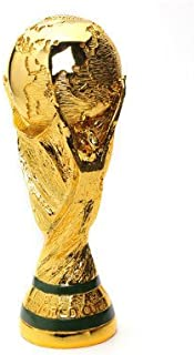 Trofeo De La Copa Mundial Réplica De Los Fanáticos del Fútbol Recuerdo FIFA 2018 Rusia Copa Mundial De Regalo Modelo De La Medalla De Fútbol Modelo Plateado 3D Artesanía De Resina De Oro