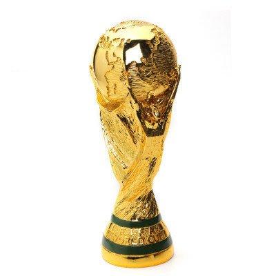 Wanson Trofeo De La Copa Mundial Réplica De Los Fanáticos del Fútbol Recuerdo FIFA 2018 Rusia Copa Mundial De Regalo Modelo De La Medalla De Fútbol Modelo Plateado 3D Artesanía De Resina De Oro
