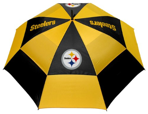 Buy Bargain Team Golf NFL 62 Golf Umbrella with Protective Sheath, Double Canopy Wind Protection De...