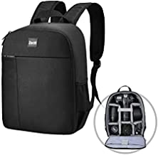 Camera Backpack Zecti Professional Camera Bag Waterproof Canvas Photography Backpack, Camera Case Compatible for for Laptop and DSLR/SLR Accessories Black