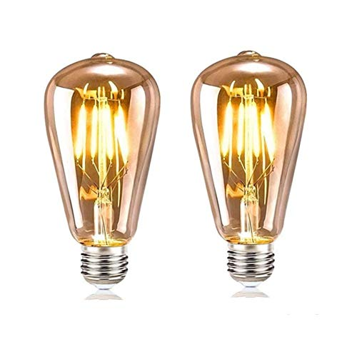 XINRISHENG Glühbirne E27 4W Vintage, Edison Retro E27 glühbirnen LED Filament Lampe Dekorative Glühbirne Ideal für Nostalgie und Retro Beleuchtung im Haus Café Bar,1