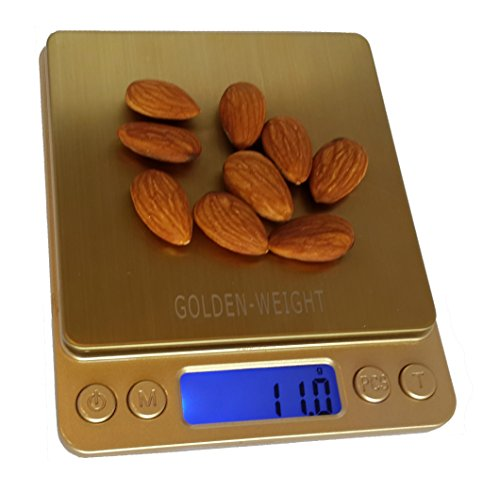 Multi-function Stainless Steel Digital Portable Scale - High Precision Pocket Kitchen Scale & suitable for Jewelry, Medical, Scientific & Postage use – LCD Backlit Display measuring to 2kg/70.5 oz