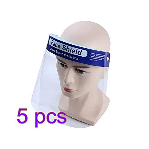ZHOUXING - Pantalla facial transparente, protección contra salpicaduras de saliva, antipolvo, máscara de seguridad, equipo de protección facial