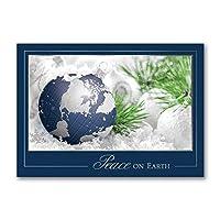 1200枚入り 平和な地球儀 クリスマスカード クリスマスカード