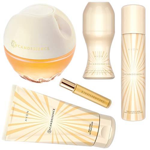 AVON Incandessence Set 5 Teile Eau de Parfum Spray 50ml Bodylotion 150ml Deo-50ml Körperspray75ml Taschenspray 10ml für Damen