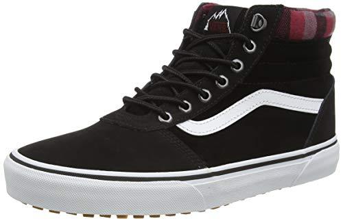 Vans Herren Ward Hi Sneaker, Schwarz ((Mte) Black/Plaid V1t), 44 EU