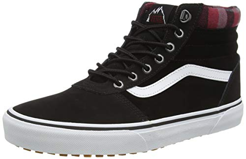 Vans Ward Hi, Baskets Hautes Homme, Noir ((MTE) Black/Plaid), 43 EU