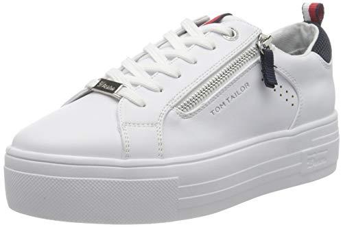 TOM TAILOR Damen 1196102 Sneaker, White, 40 EU