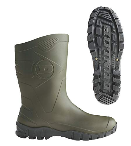 Dunlop Protective Footwear Unisex-Erwachsene Dee Gummistiefel, Grün (Green/Black), 38 EU