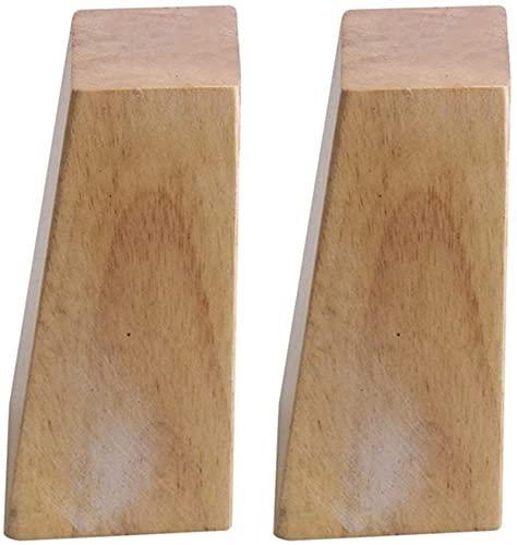 JYV Hight 6-15cm Muebles de Madera Gabinete de Madera Ángulo Recto Trapezoid Pies Reemplazo para Sofá Cama de Mesa con Juego de 4 Piernas de Muebles (Color : 10cm)