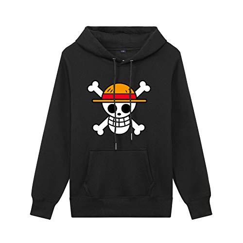 Deductive Life One Piece Anime Hoodie (Black, XL)
