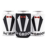 Blue Panda 12-Pack'Team Groom' Bachelor Party Beer Can Covers Cooler Sleeve