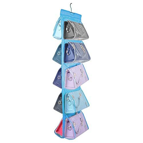 yuery Bolsa de almacenamiento de ropa interior para colgar en el hogar, bolsa para colgar artefactos cajas de almacenamiento de ropa interior, divisor de armario, organizador E