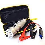 FOXKA ジャンプスターター モバイルバッテリー 10000mAh/37wh 12V ガソリン車4.0L ディーゼル車2.0L スマートケーブル XAA376
