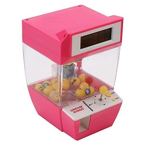 Fdit Elektronische kraangrijper-machine-speelgoed-miniatuur, grappige en creatieve 2-in-1 wekker met LCD-display, cadeau voor kinderen
