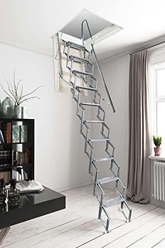 Escalera retráctil manual de acero galvanizado (70 x 70 cm)