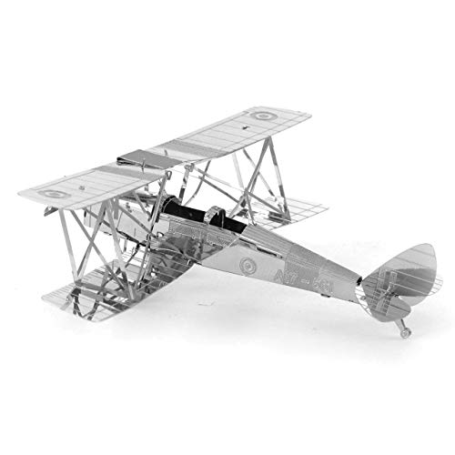 Metal Earth Fascinations DH82 Tiger Moth Airplane 3D Metal Model Kit