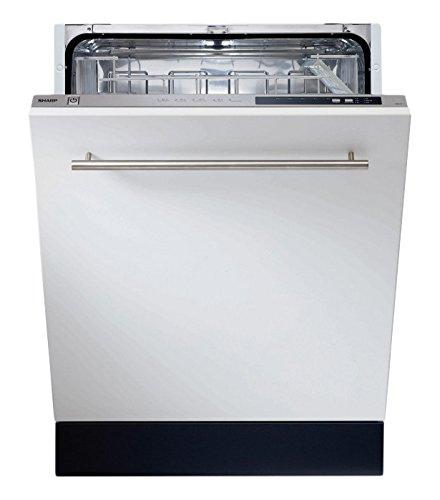 Sharp QW-d21i492x de encastrable Lave-vaisselle/A + +/258kWh/an/2520L/AN/Aqua Stop/Acier inoxydable